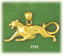 14k gold panther charm