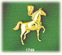 14k gold walking horse charm