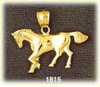 14kt gold gentle horse charm