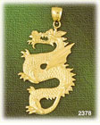 14k gold serpent dragon charm