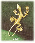 14k gold creeping lizard charm