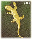 14k gold scaly lizard charm