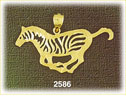 14k gold outlined zebra charm