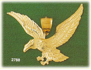 14k gold bald eagle charm