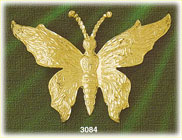 14k gold butterfly with flower detailing charm
