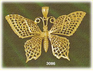 14k gold swallowtail butterfly charm
