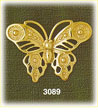 14k gold butterfly with beaded detailing charm