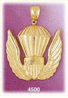 14kt yellow gold us air force military charm pendant