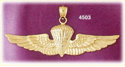 14K Yellow Gold US Air Force Military Charm