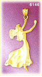 14k gold elegant dancer charm