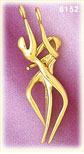 14k gold 3d 2 piece couples dancing charm