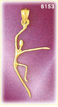 14k gold dancer charm