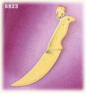 14K Gold 3D Carving Knife Charm