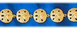 14k gold sand dollars sea life bracelet