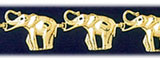 14k gold african elephants bracelet
