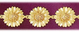 14k gold sunflower bracelet