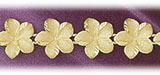 14k yellow gold plumeria flowers bracelet