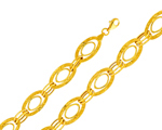 Chic 14K Yellow Gold Designer Link Women's Fancy Light  Bracelet