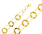 Stylish 14Kt Yellow Gold Women's Cable Chain Link Fancy Light Bracelet