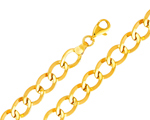 Classy 14K Yellow Gold Cuban Link Light Fancy Women Bracelet