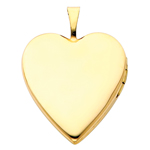 Splendid 14K Yellow Gold Polished Heart Locket