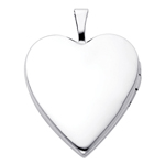 Splendid 14K White Gold Polished Heart Locket