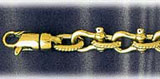 8mm 14k gold shackle mens bracelet