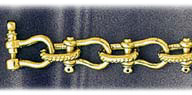 9mm 14k gold shackle mens bracelet