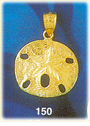 mesmerizing 14k gold sand dollar charm pendant with ornate detailing