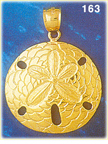 fabulous 14k gold sand dollar pendant with sophisticated detailing