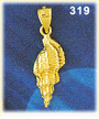 fashionable 14k gold mollusk gastropod seashell charm - superb details