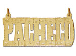 14k gold etched block nameplate