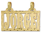 14k gold personalized block rectangular name plate