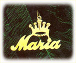14k gold designer crown nameplate