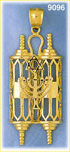 14k gold torah with menorah & star of david pendant