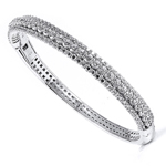 silver rhodium plated and cz bangle