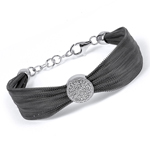 sterling silver black rhodium plated and cz bracelet