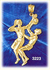 14k gold basketball players charm