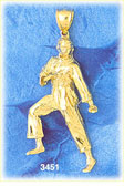 14k gold karate stance charm