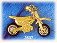 14k gold 3d moveable motorcycle charm