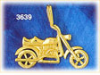 14k gold motorcycle charm
