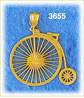14k gold old fashioned bicycle charm
