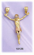 14kt tri color gold crucifix charm