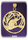 14k gold chinese zodiac rat charm