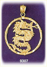 14k gold chinese zodiac dragon charm