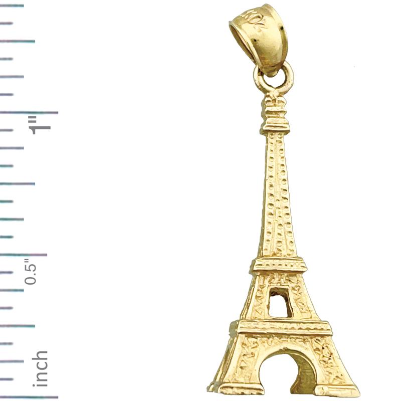 e92f556c8 14k Gold Eiffel Tower Pendant - Pendant Design Ideas