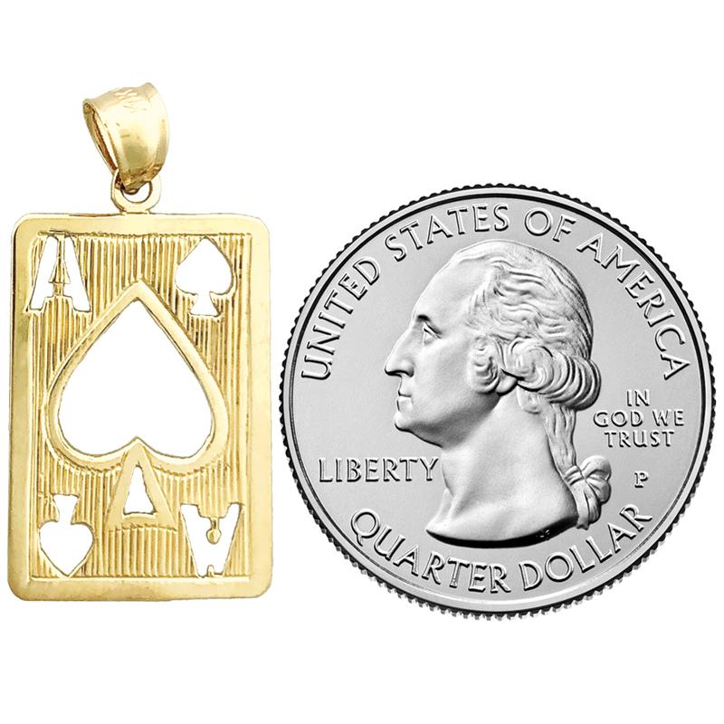14K Gold Cutout Ace of Spades Charm