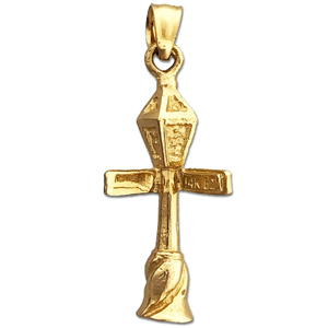 14k gold 3d bourbon & conti street lamp post charm