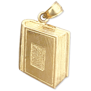 14k gold yearbook charm pendant