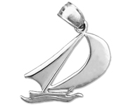 925 sterling silver sailboat mini charm